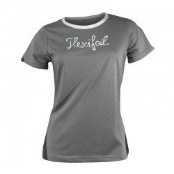 Camiseta-'Mistral' Tee - Crew Neck - Grey & White
