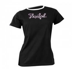 Camiseta-'Mistral' Tee - Crew Neck - Black & White