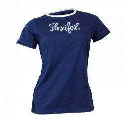 Camiseta-'Mistral' Tee - Crew Neck - Blue & White