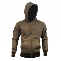 SUDADERA-Flexifoil Zip Hoody Brown