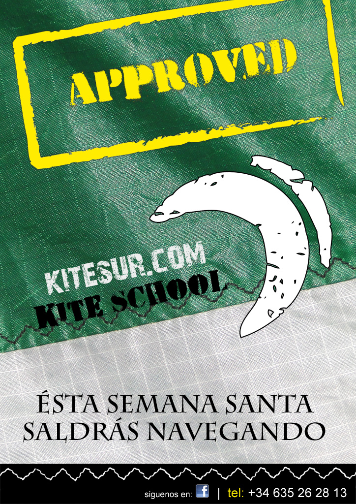 cartel oferta kitesurf semana santa